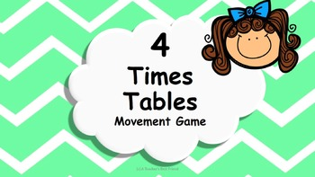 Multiplication 4 Times Tables Game / Brain Break