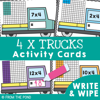 4 Times Tables {Multiplication Activity Math Center}