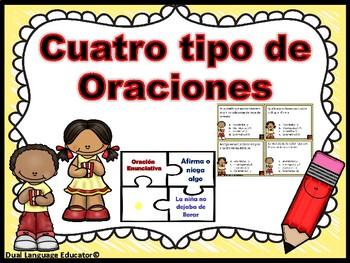 4 Tipos de oraciones/ 4 Types of Sentences