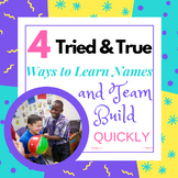 4 Tried & True Name Games and Team Building Activities