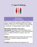4 Types Of Bullying Hyperdoc-100% Online No Prep for Distance Learning