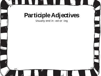 4 Types of Adjectives Sort (Participle, Comparative, Superlative & Proper)