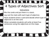 4 Types of Adjectives Sort (Participle, Comparative, Super