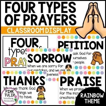 4 Types of Catholic Prayer Posters - Classroom Display