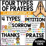 Four Types of Catholic Prayer Posters - Classroom Decor