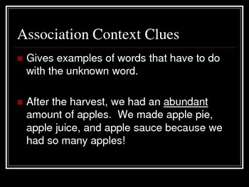 4 Types of Context Clues Presentation