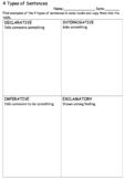 4 Types of Sentence Graphic Organiser