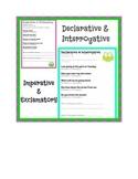 4 Types of Sentences Assessments