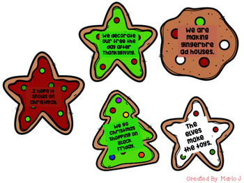 4 Types of Sentences Christmas Cookie Sort