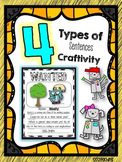 4 Types of Sentences Grammar Craftivity: WANTED Ad