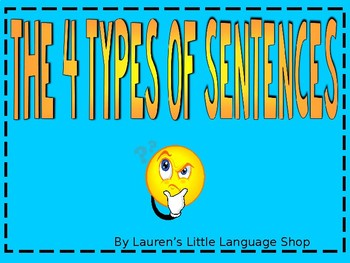 4 Types of Sentences Notes and Identifying Review