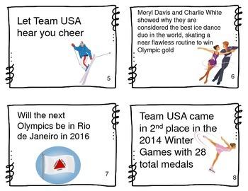 4 Types of Sentences: Winter Sports Theme, Task Cards