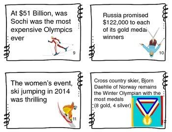Four Types of Sentences: Winter Sports Theme, Task Cards