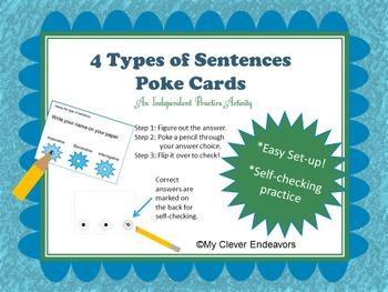 4 Types of Sentences Poke Cards