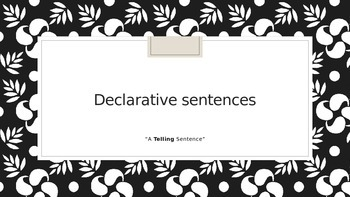 4 Types of Sentences Powerpoint