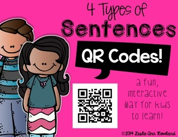 4 Types of Sentences QR Codes