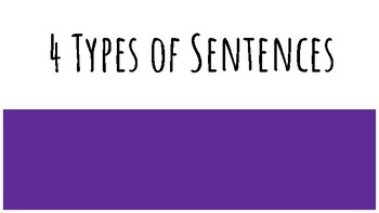 4 Types of Sentences Slides