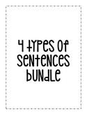 4 Types of Sentences Bundle: Declarative, Imperative, Inte