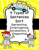 4 Types of Sentences Sort - Declarative, Interrogative, Imperative, Exclamatory