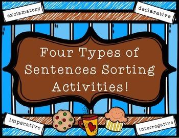 4 Types of Sentences Sorting Activities - grades 3-5