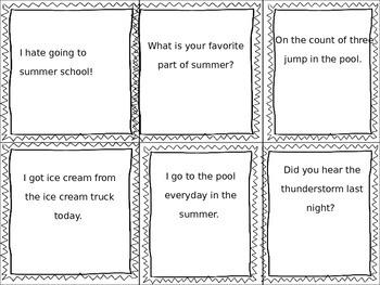 4 Types of Sentences Task Cards- Center Works