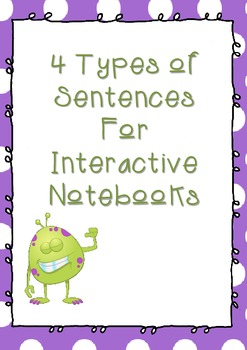 4 Types of Sentences for Interactive Notebooks