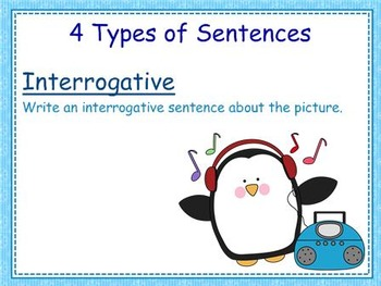4 Types of Sentences with a Penguin Theme - Mimio Activity Combo