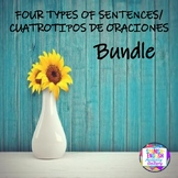 4 Types of Sentences/4 Tipos de Oraciones Bundle