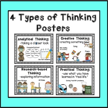 4 Types of Thinking Posters (TAP Rubric)