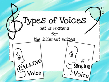 4 Types of Voices: Posters