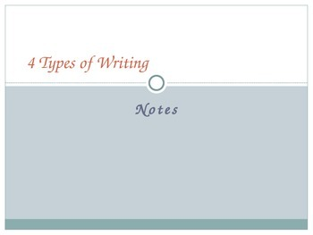 4 Types of Writing Notes