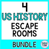 4 U.S. History ESCAPE ROOMS BUNDLE!! Constitution, Declaration, US Revolution