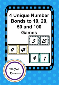 4 Unique Number Bonds to 10, 20, 50 and 100 Games