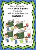 4 Upper Elementary Math Skills Review Flipcharts with Acti