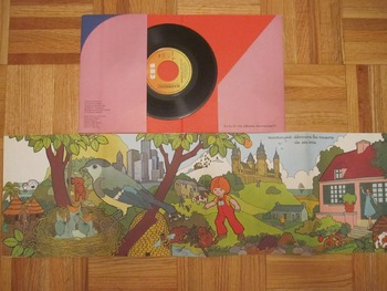 MUSIC CHILDRENS FRENCH SONGS AUDIO Marmouset STORY STORIES 45rpm 7'' record