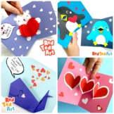 4 Valentine's Day Cards -  3 Pop Up Cards Techniques + Ori