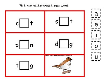 4 Vermont State Symbols themed CVC Preschool Phonics Vowel Games.