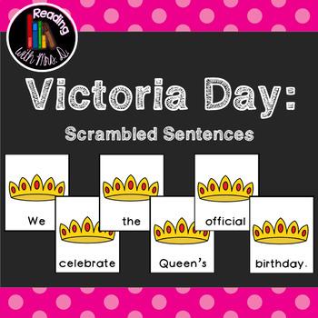 4 Victoria Day Scrambled Sentences PLUS Recording Page