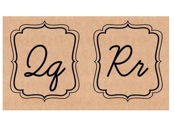4 Vintage Cursive Alphabets
