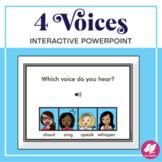 4 Voices Identification - Interactive PowerPoint activity