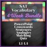 4 WEEK VOCABULARY UNIT - SAT Prep, AP English