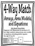 4-Way Match: Arrays, Area Models, and Equations (TEKS 4.4C)