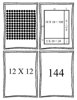 4-Way Match: Arrays, Area Models, and Equations (TEKS 4.4C)