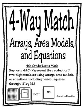 4-Way Match: Arrays, Area Models, and Equations