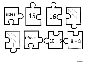 4 Ways to Make Numbers 11-20 FUN PUZZLES!!