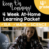 4 Week At Home Learning Packet (4th Grade) I Distance Learning I Google Slides