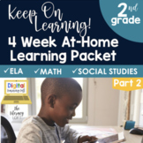 4 Week At Home Learning Packet Part 2 (2nd Grade)    Dista