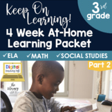 4 Week At Home Learning Packet Part 2 (3rd Grade)   Distan