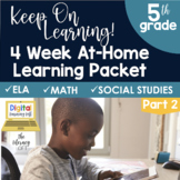 4 Week At Home Learning Packet Part 2 (5th Grade)   Distan