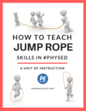 4 Week Jump Rope Unit - Lesson Plans, Station Signs, Worksheets and More!
